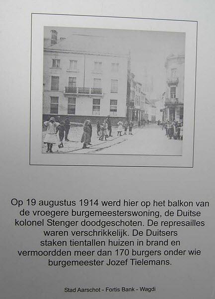 herdenking aan de Duitse inval in Aarschot 1914