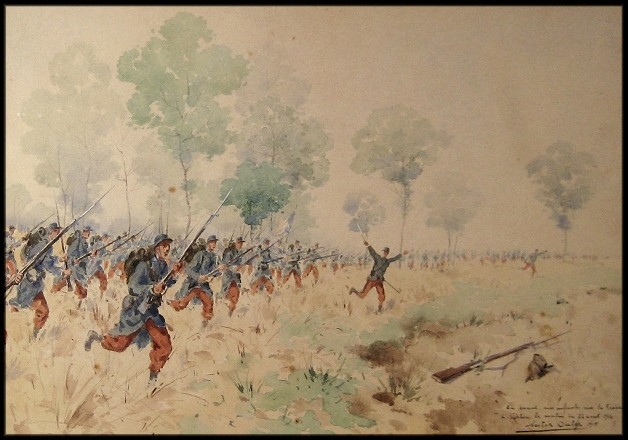 Assaut de l'infanterie française