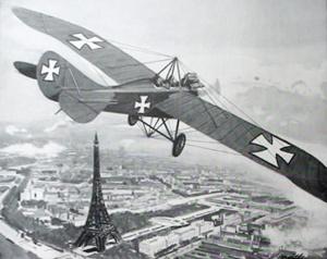 Von Hiddesen boven Parijs