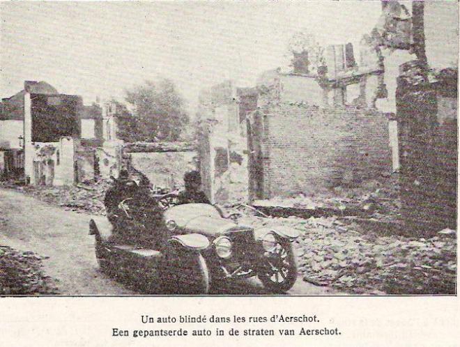 gepantserde auto in Aarschot 1914