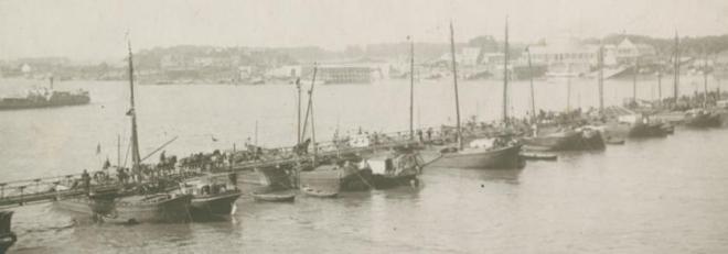 pontonbrug te Antwerpen in 1914