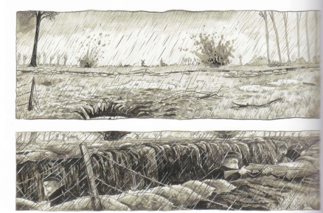 "tekening uit het boek ""Odon"""