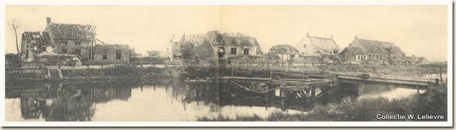 Schoorbakkebrug in 1914 na de gevechten