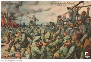 Russen en Duitsers in de slag om Lodz