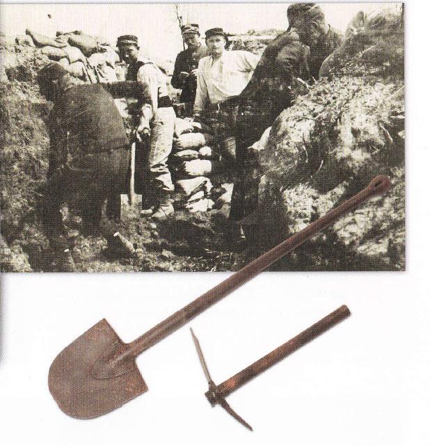 """Soldaten graven loopgraven - uit het boek """"Odon"""""""