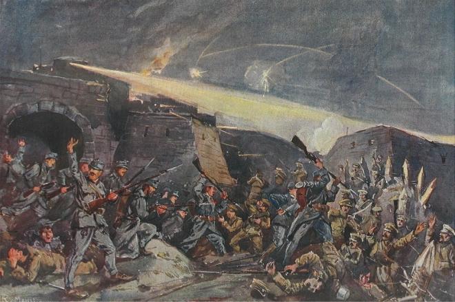belegering van Przemysl - geschilderd door Ritter von Meissel