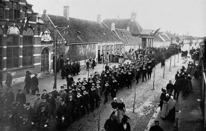 Begrafenis te Westkapelle op 20 november 1914