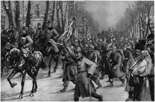 Oostenrijkse intocht in Belgrado op 2 december 1914