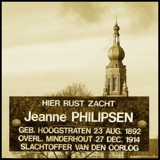 gedenkplaat Jeanne Philipsen