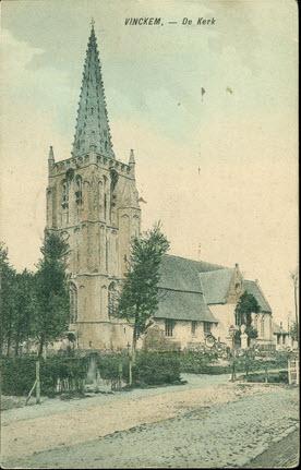 de kerk van Vinkem bij Veurne