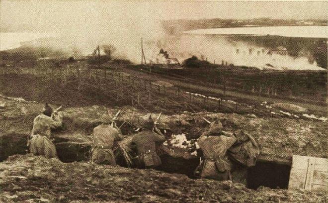 gasaanval bij de slag om Bolinov 1915