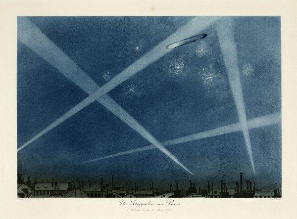 Georges Taboureau - zeppelin sur Paris