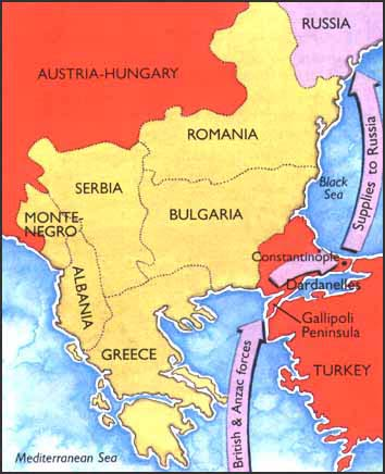 Gallipoli Map