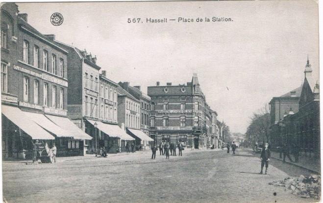 Stationplaats te Hasselt