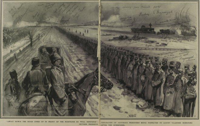 Oostenrijkse krijgsgevangenen in Przemysl