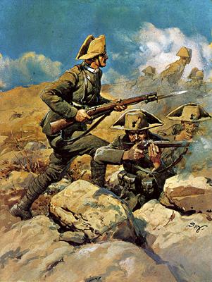Carabinieri tijdens de slag om Podgora