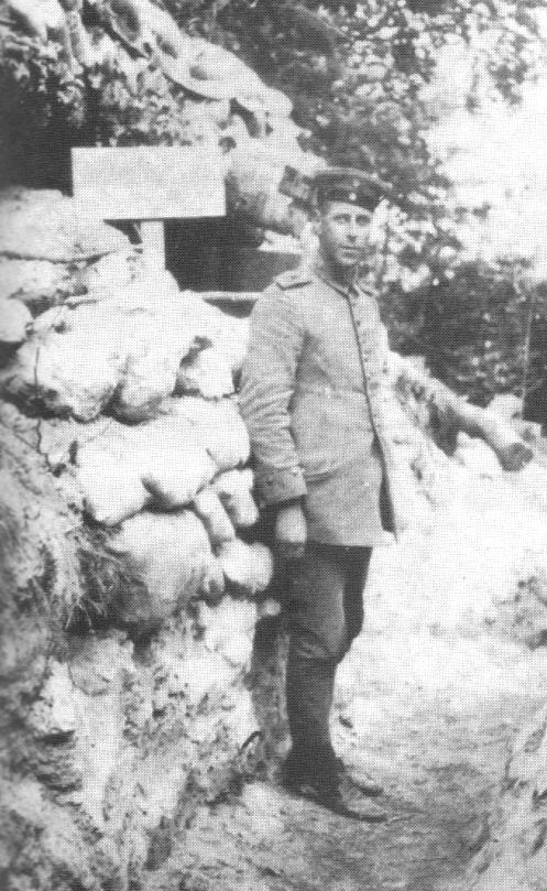 Herbert Sulzbach in Picardië, zomer van 1915