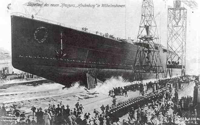 tewaterlating van de Hindenburg