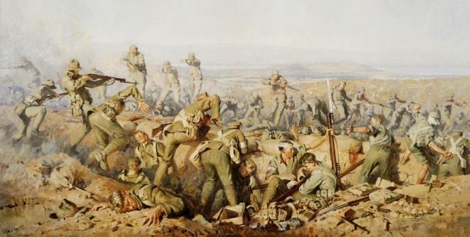 slag bij Chunuk Bair door majoor Ion George Brown