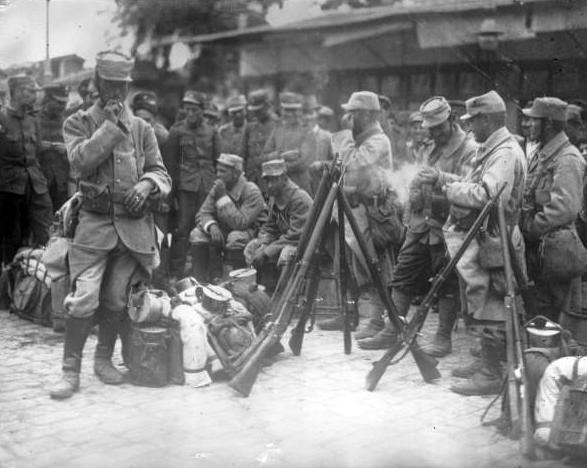 Franse soldaten in Saloniki 1915