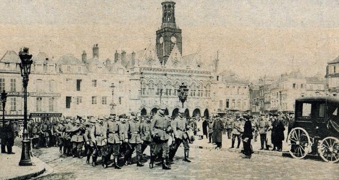 Duitse soldaten in Saint-Quentin