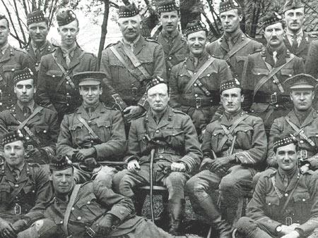 Churchill bij de Royal Scots Fuseliers