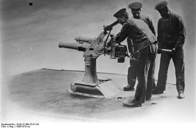 Versenkbares 7,5cm-U-Boot-Geschütz