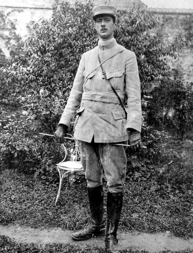 de-gaulle-capitaine-en-1915