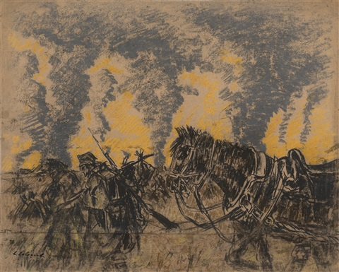 leonid-sologub-breakthrough-at-lutsk;-collection-of-drawings-from-the-first-world-war-series,-(18-works)