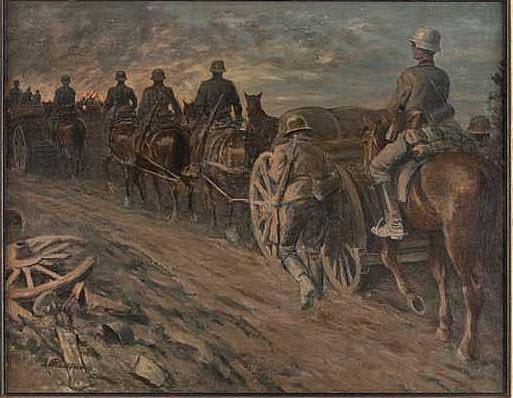 ottoflechtner_deutscheartillerieaufdemmarsch_1916