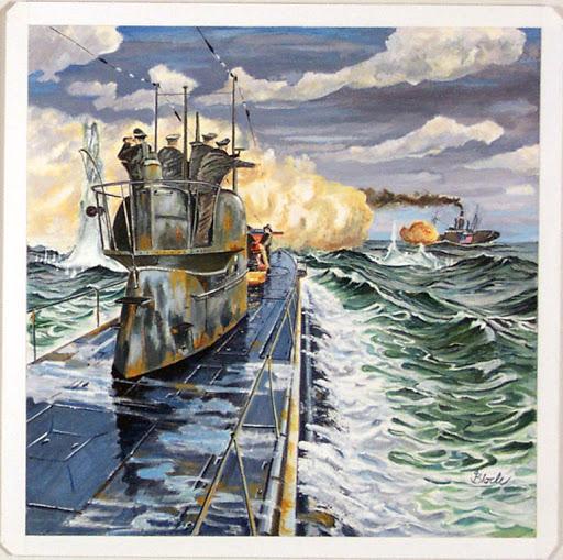 U 53 im Kampf mit der U-Boot-Falle