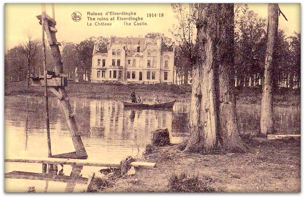 """ELVERDINGE         """" Le Chateau Anno 1914-1918 """""""