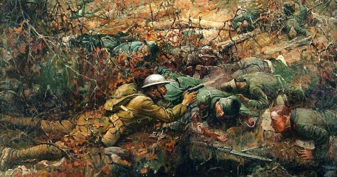FrankSchoonover_Alvin_C_York_Painting_1918